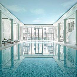 Pool inside a spa